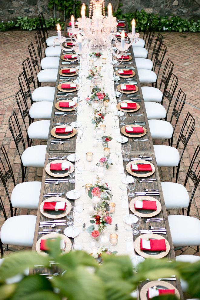 Wedding table decor the personal touch wedding blog rectangular tables add spice to your reception decor junglespirit Image collections